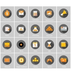 Big Collection of Flat Business and Finance vector image