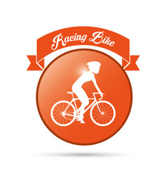 bike racing male cartoon challenge yourself icon vector image