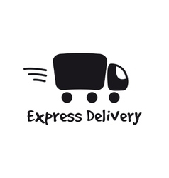 black truck logotype Express delivery logo vector image