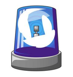 blue flash siren icon cartoon style vector image