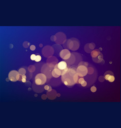 bokeh effect christmas glowing warm golden vector image