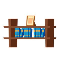 Bookshelf on wall icon vector