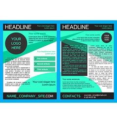 Brochure design template in eps vector
