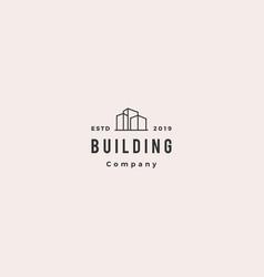 building logo vintage retro hipster icon download vector image