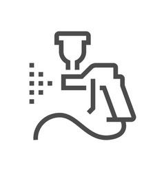 Car paint nozzle icon vector