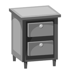 Chest of drawers icon gray monochrome style vector