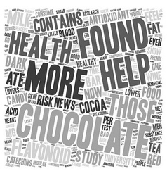 Chocolate The Newest Health Food text background vector