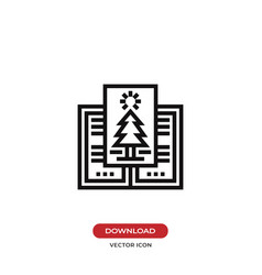 christmas card icon vector image