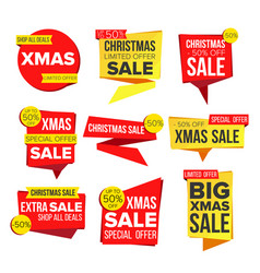 Christmas sale banner collection online vector