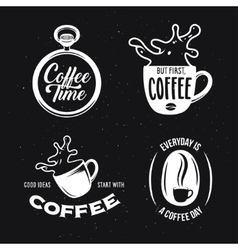 Coffee related quotes set vintage vector image