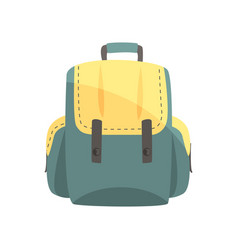 Colorful backpack classic styled rucksack vector