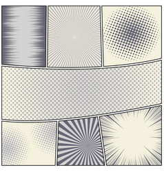 Comic book page light composition vector