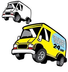 Commercial cartoon van vector