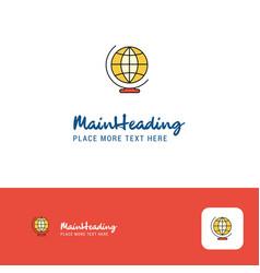 creative world globe logo design flat color logo vector image