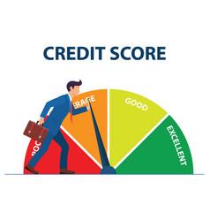Credit score concept vector