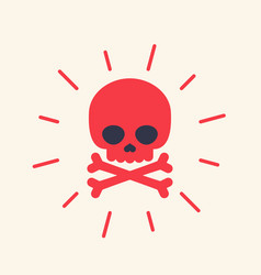 Danger icon with skull vector