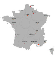 detailed map of the france vector image