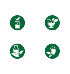Detox water icon vector