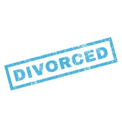 Divorced Rubber Stamp vector image