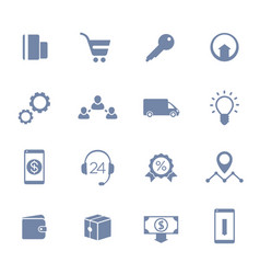 E-commerce business online shopping icons vector