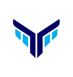 eagle face abstract icon logo vector image
