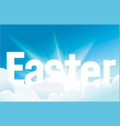 Easter background with blue sky vector