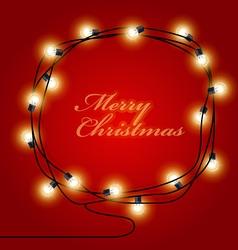 Festive frame made shining christmas lights vector