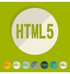 Flat design HTML5 vector image