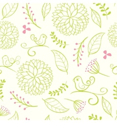 floral summer background vector image