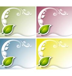 Four leaf background vector image