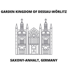 garden kingdom of dessau-worlitz saxony-anhalt vector image