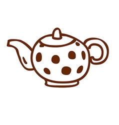 Hand Drawn Kettle vector image