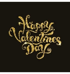 happy valentines day lettering Hand drawn phrase vector image