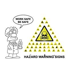 Hazard Warning Signs vector image