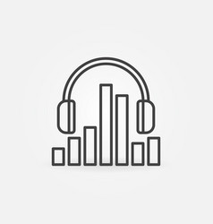 headphones with sound equalizer concept vector image