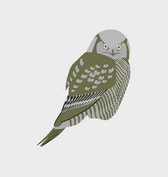 In flat style of owl vector