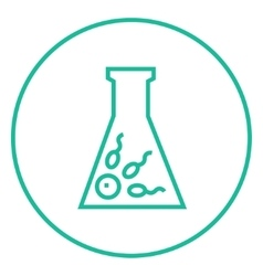 In vitro fertilisation line icon vector image