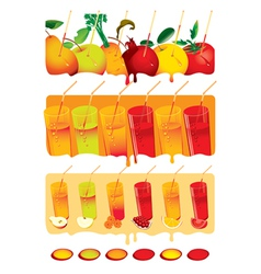 juice set vector image vector image
