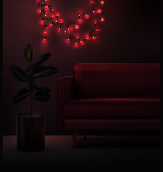 led christmas garland in vector image