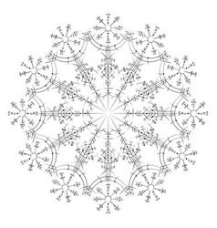 Magic circle viking tattoo vector