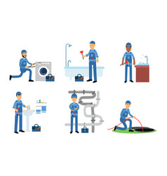 Maintenance plumbing water systems vector