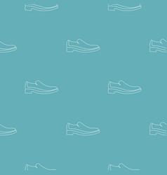 men shoe pattern seamless vector image