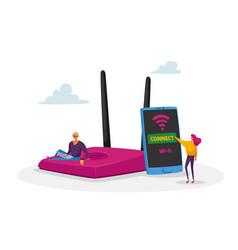 Modern network technology free wi-fi hotspot vector