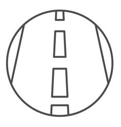 Motorway thin line icon transportation symbol vector