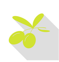 olives sign pear icon with flat vector image