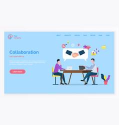 partnership and teamwork collaboration vector image
