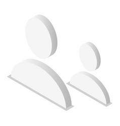 people avatar icon set isometric style vector image