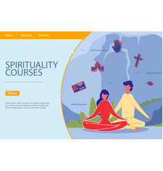 people on spiritual practice spirituality course vector image
