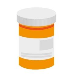Pill bottle icon vector
