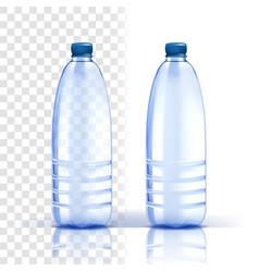 plastic bottle healthy natural bluer vector image